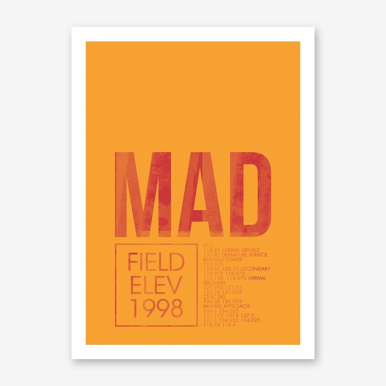 MAD Airport ATC Art Print