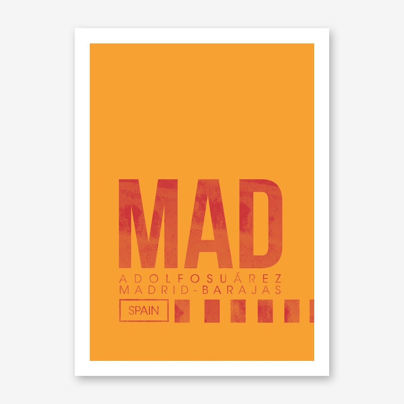 MAD Airport Code Art Print