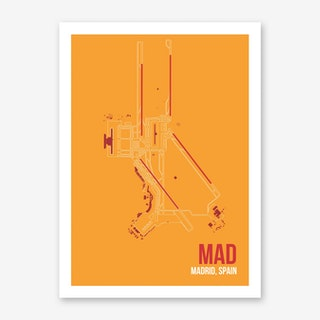 MAD Airport Layout Art Print