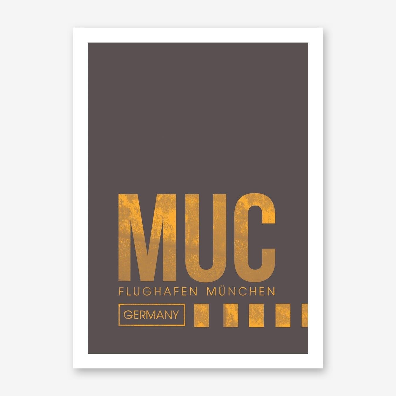 MUC Airport ATC Art Print