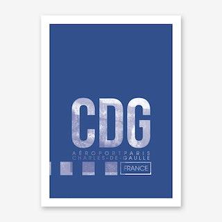 CDG Airport Code Art Print