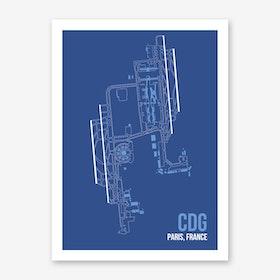 CDG Airport Layout Art Print