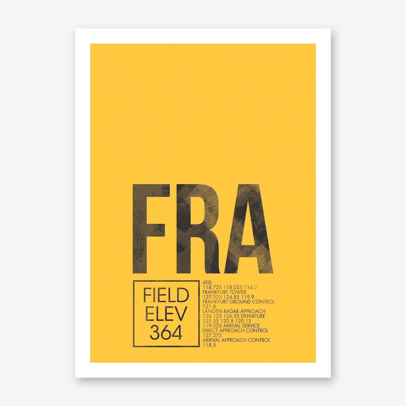 FRA Airport ATC Art Print