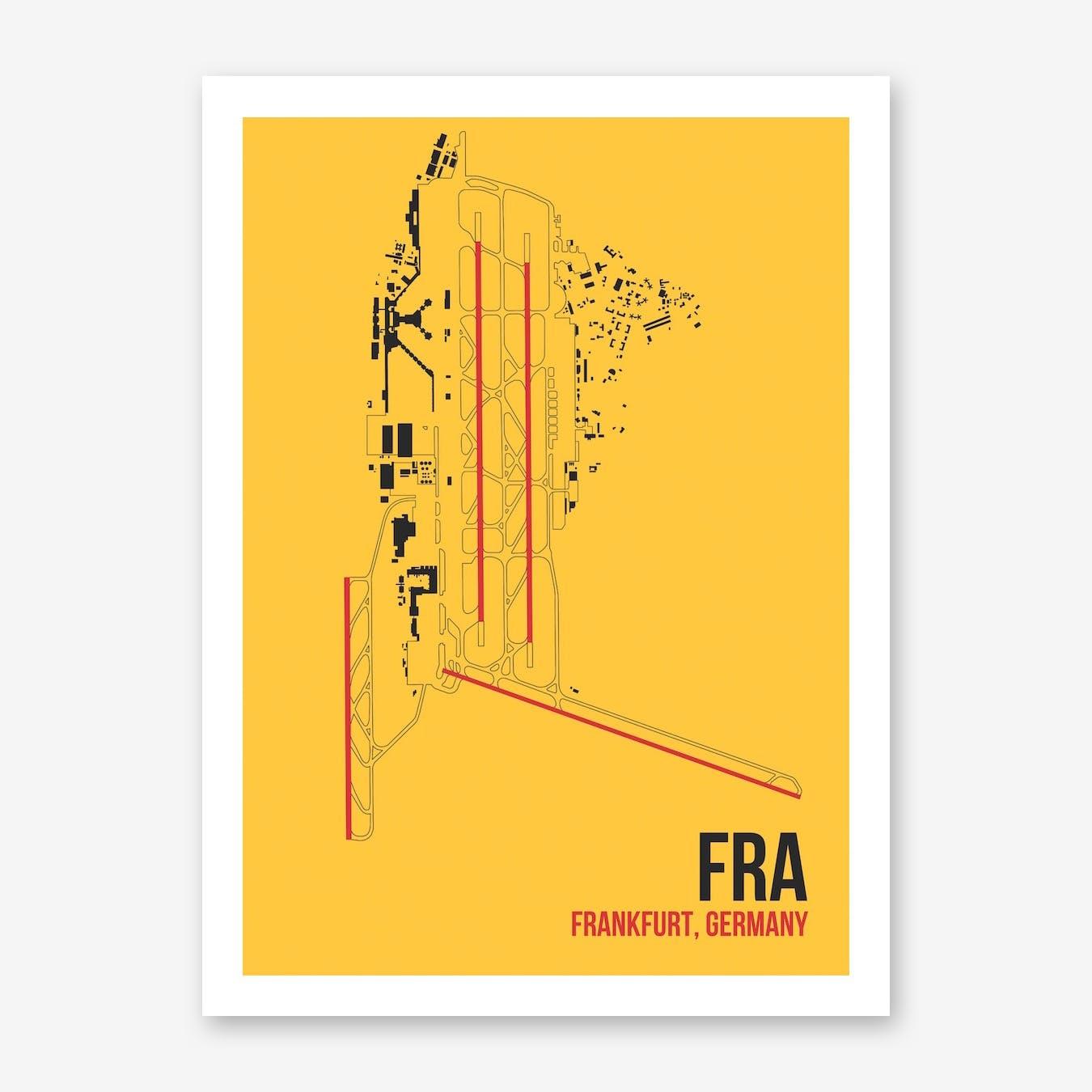 FRA Airport Layout Art Print
