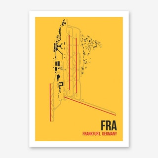 FRA Airport Layout Art Print