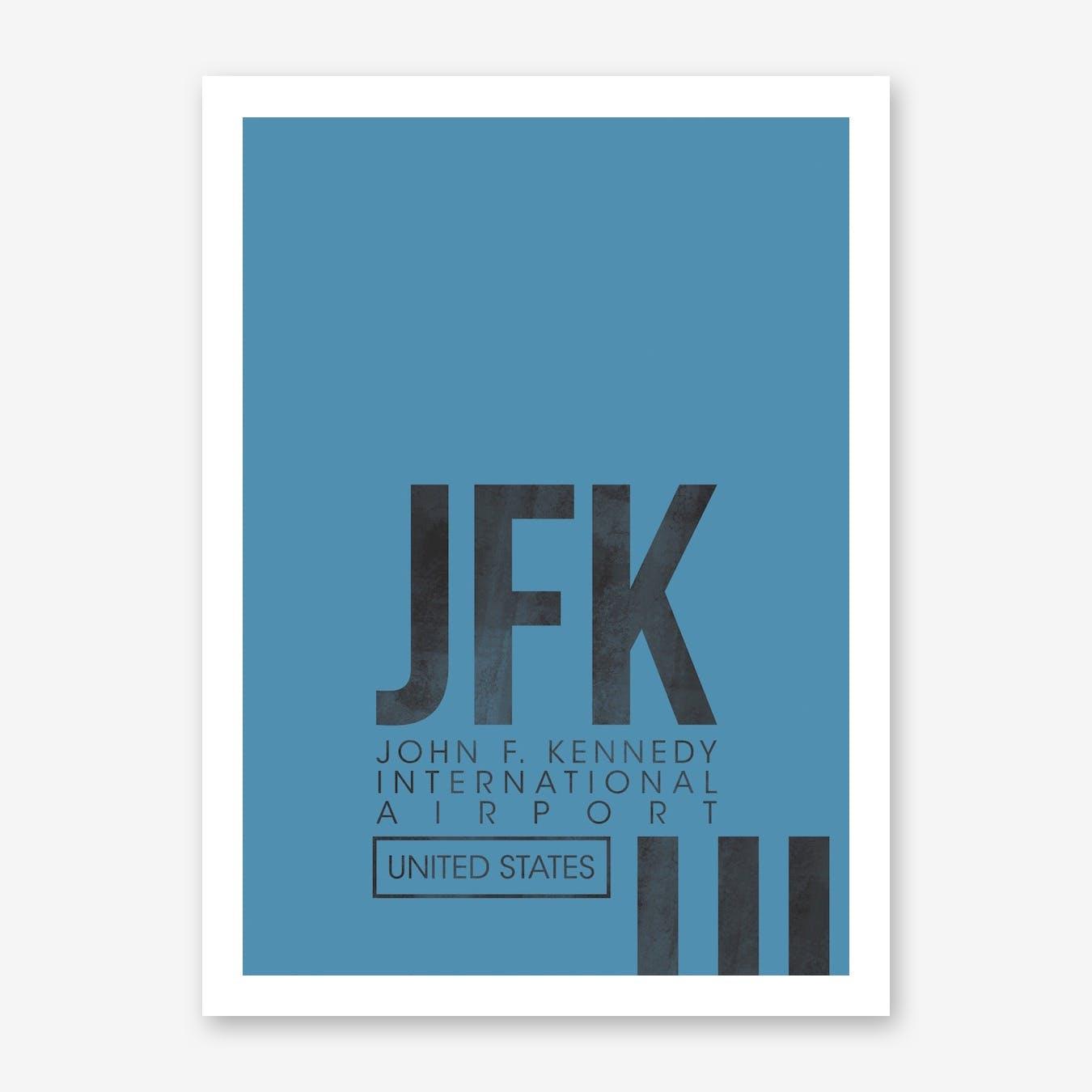 JFK Airport Code Art Print