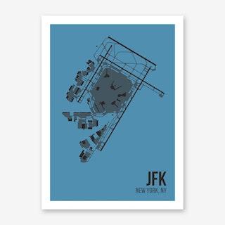 JFK Airport Layout Art Print