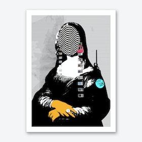 Mona Lisa Street PopArt Art Print