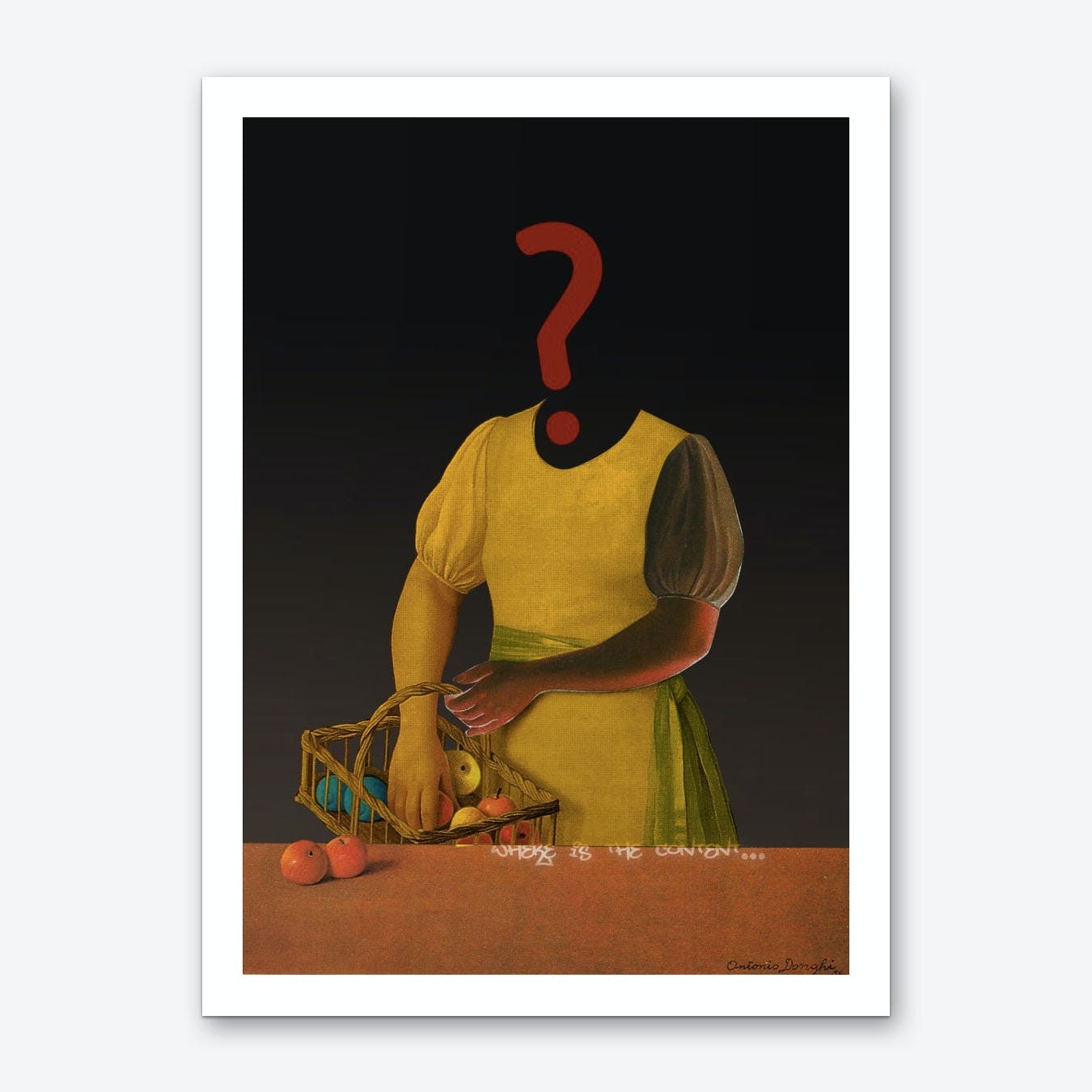 The Truth is Dead · ? Die Frau mit den Bananen - Loesung A Art Print