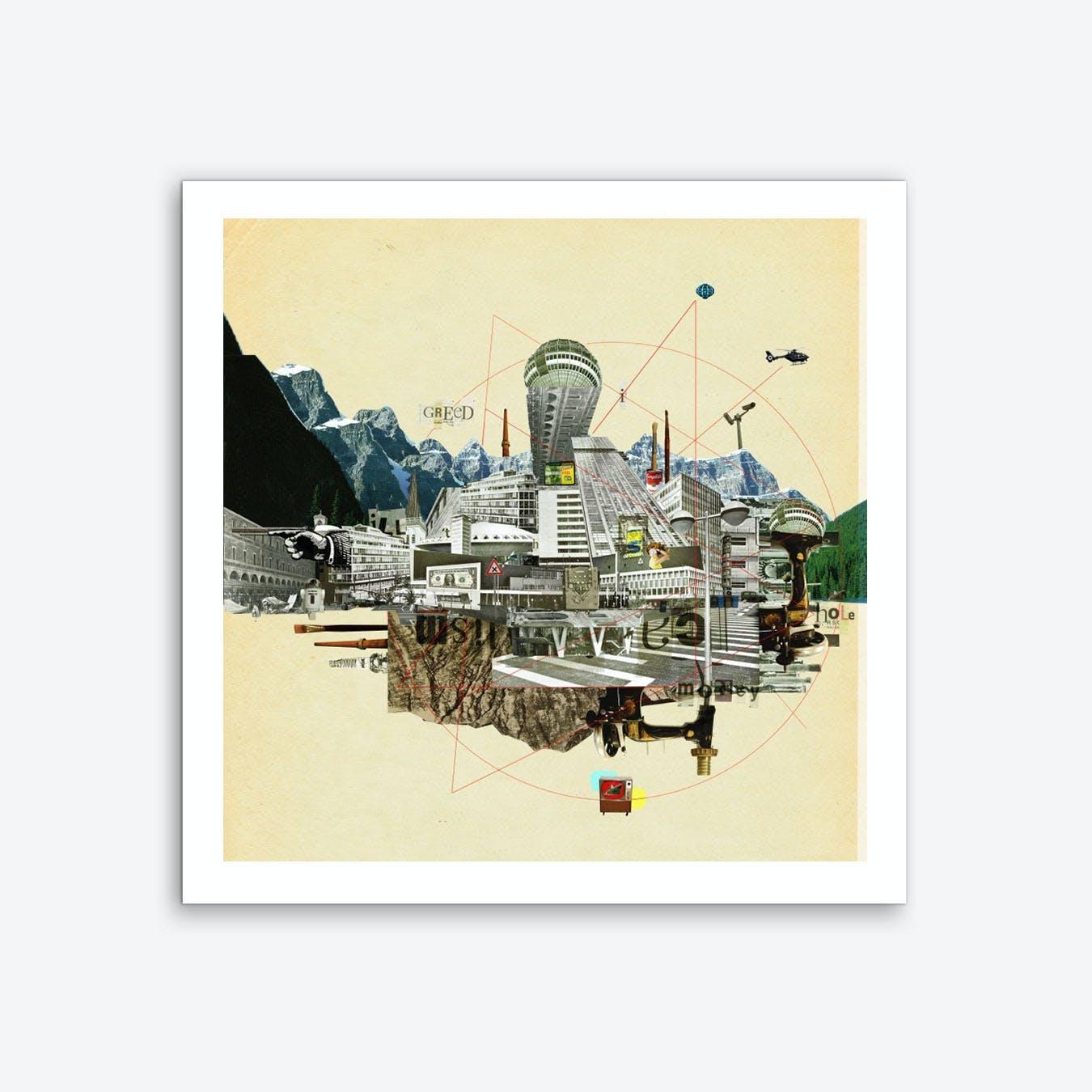 Collage City Mix 7 Art Print