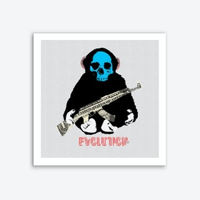 Evolution 2 · The Monkey Man and the Gun Art Print