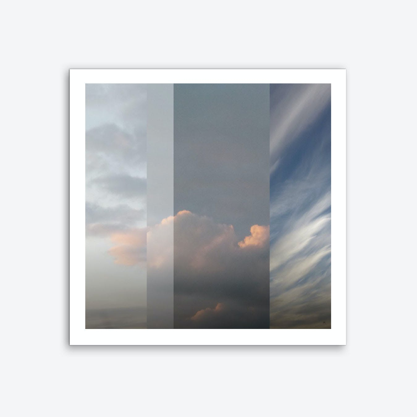 Northern Sky Fragments 2 Square Art Print