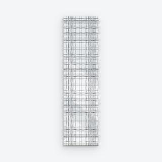 Organic Tartan Peel and Stick Wallpaper - Grey / White