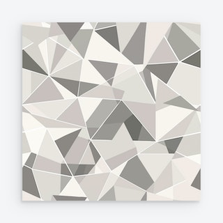 Shattered Prism Peel and Stick Wallpaper - Grey / Taupe
