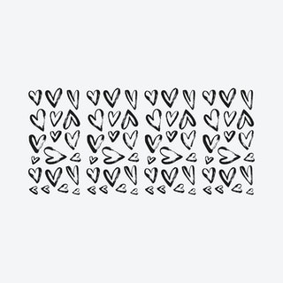 Sketchy Hearts Peel and Stick Wall Decals - Black