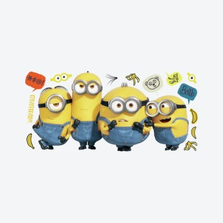 Minions II Peel and Stick Giant Wall Decals - Yellow / Blue