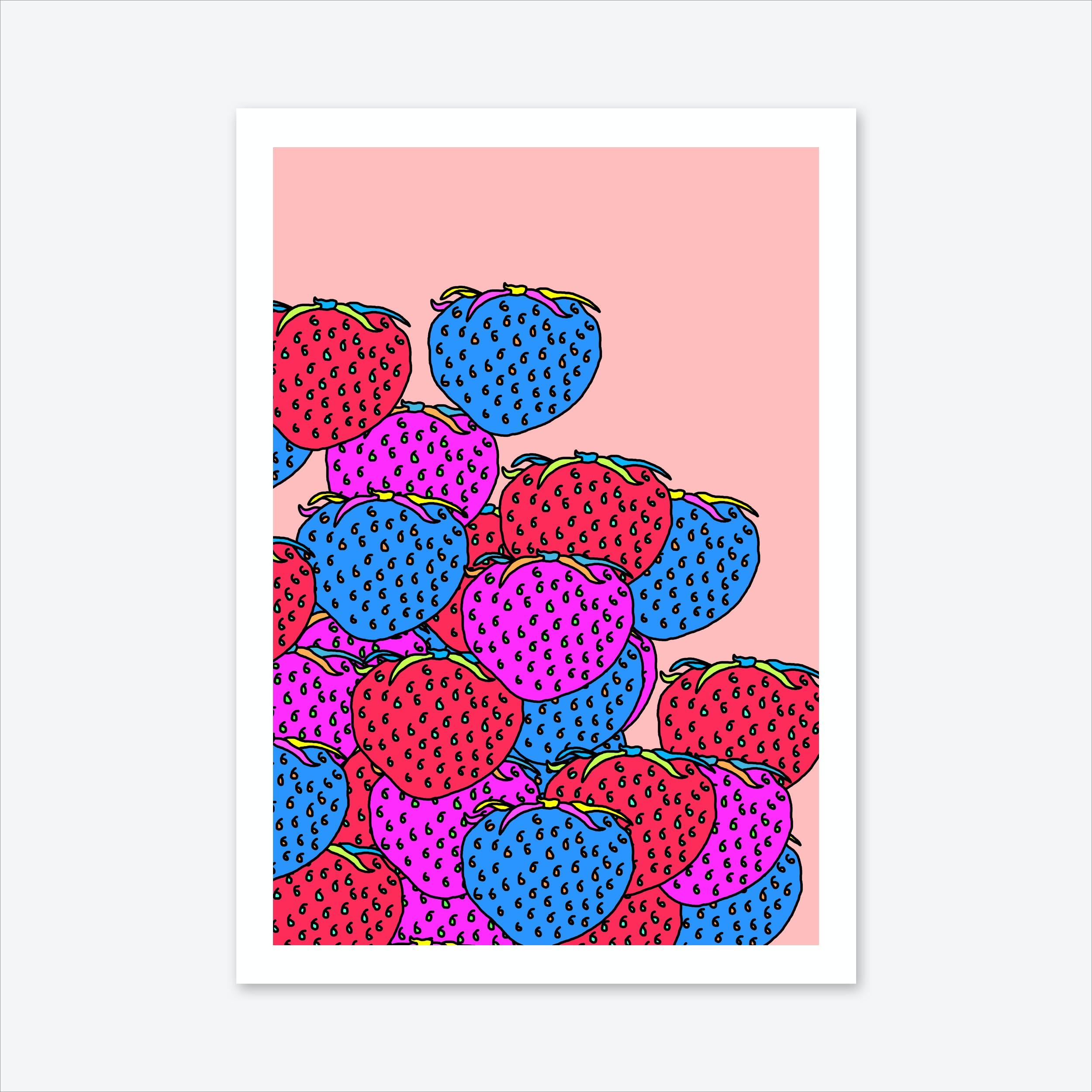 Berry Escalation Print