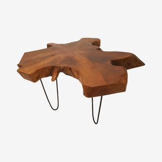 Contemporary Coffee Table - Brown - Teak