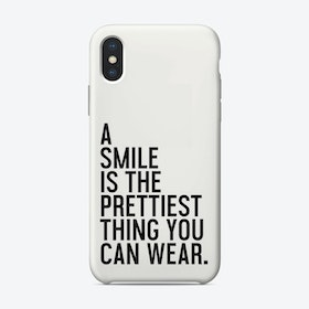 A Smile Is The Prettiest iPhone Case