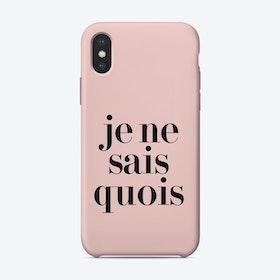 Je Ne Sais iPhone Case