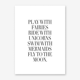Play With Fairies Art Print