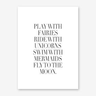 Play With Fairies Art Print