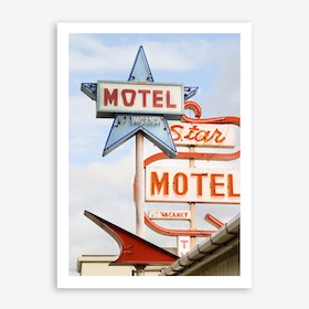 Motel In Art Print