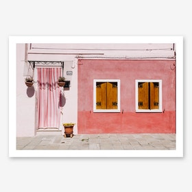 Pink Palace In Art Print