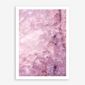 Rose Quartz In Art Print