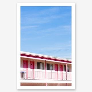 Motel Nights In Art Print