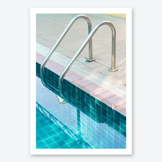 Vintage Swimming Pool Art Print