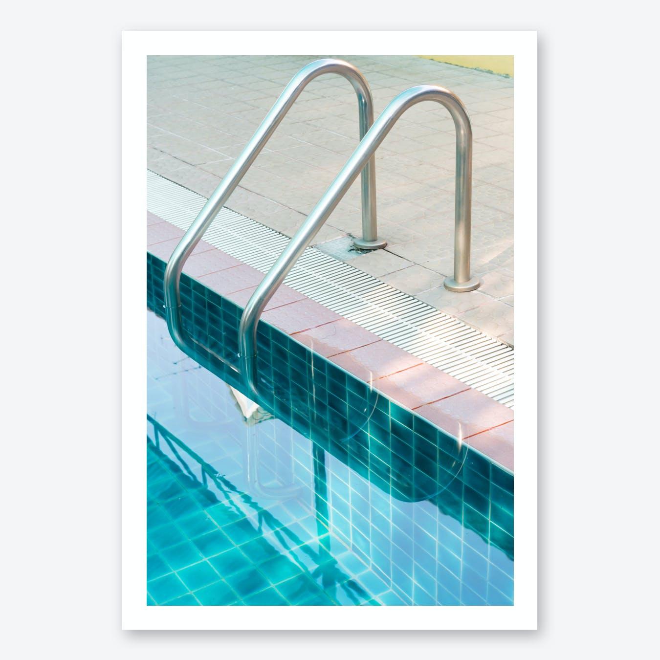 Vintage Swimming Pool Print