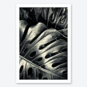 Leather Leaves Art Print