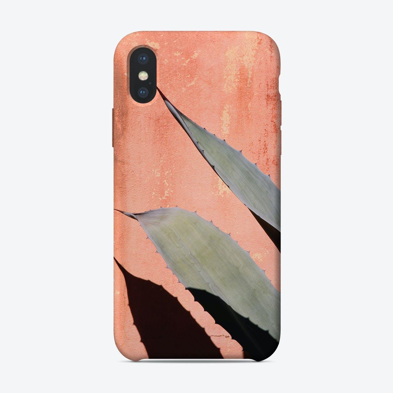 Peach Cactus iPhone Case