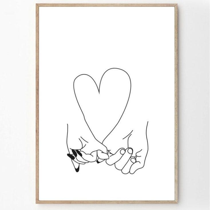 pinky promise art print by honeymoon hotel fy