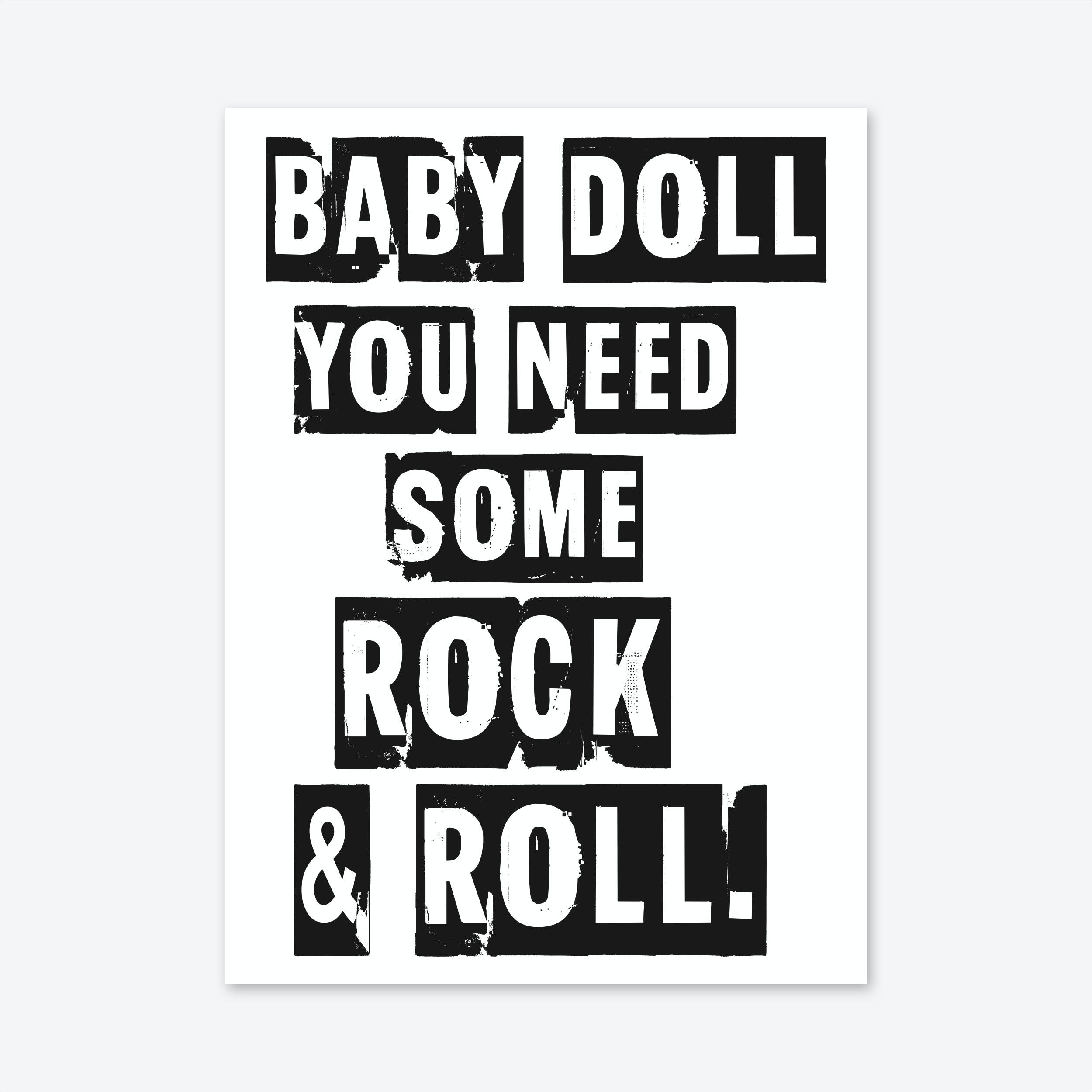 Baby Doll Art Print