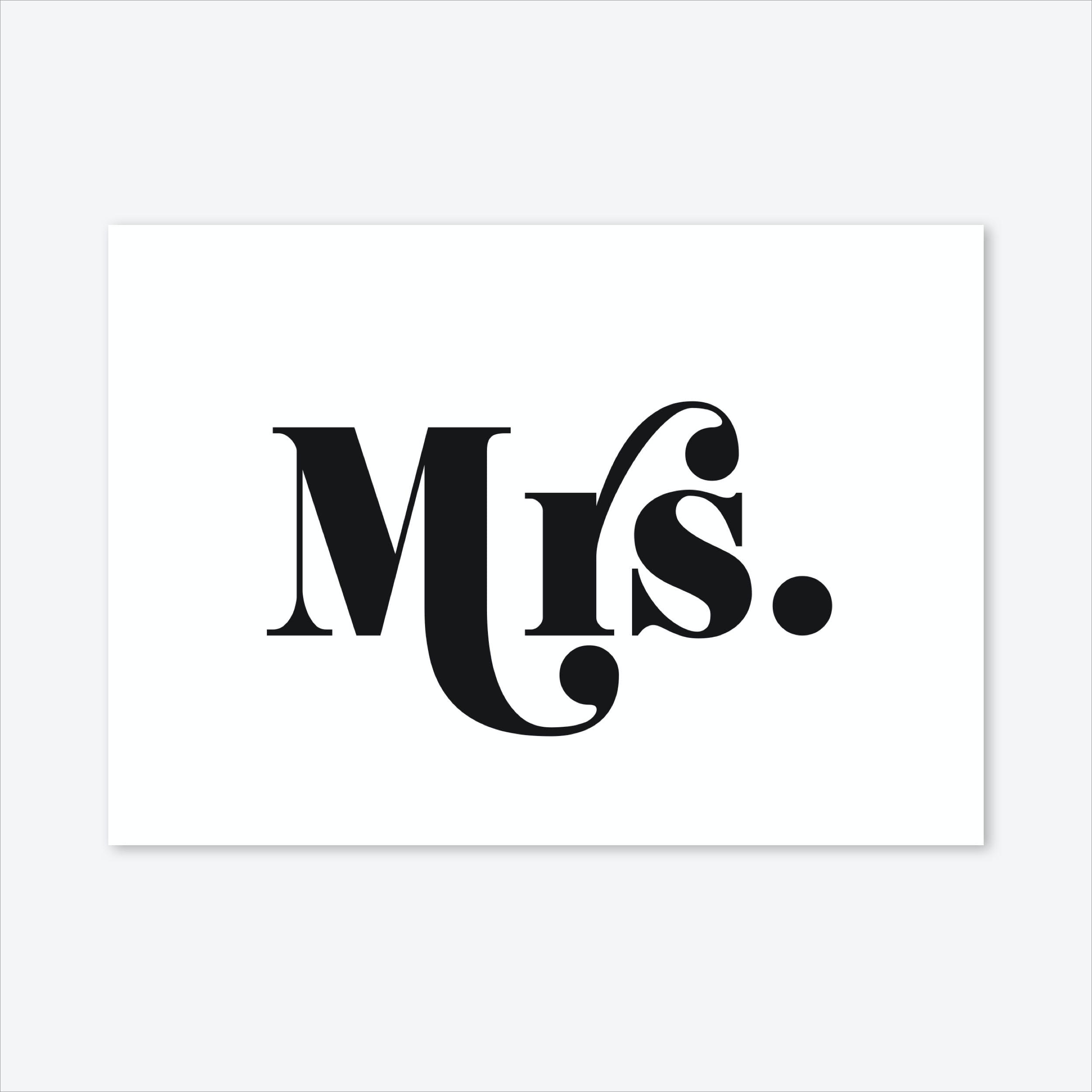 Mrs Art Print