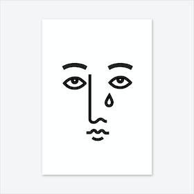 Sad Face Art Print