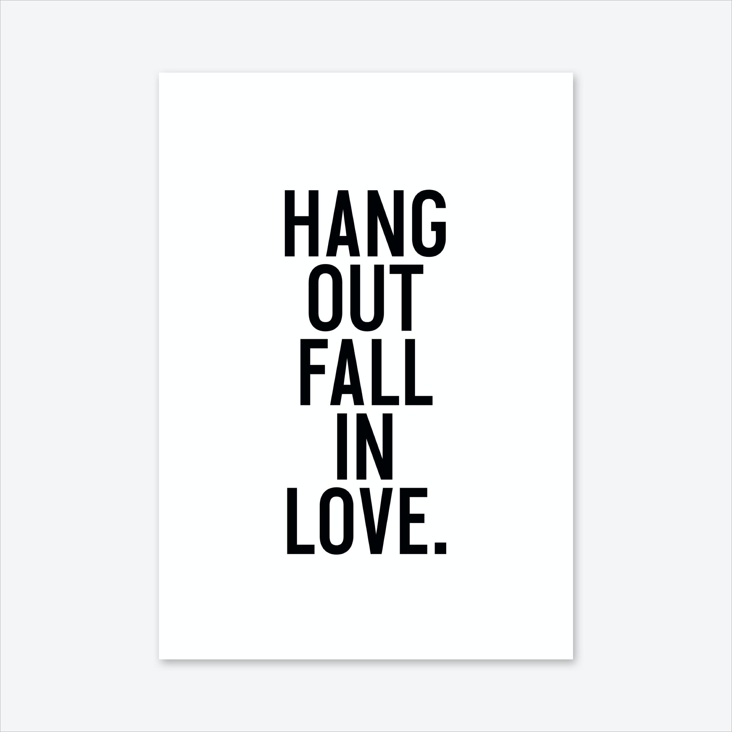Hang Out Art Print