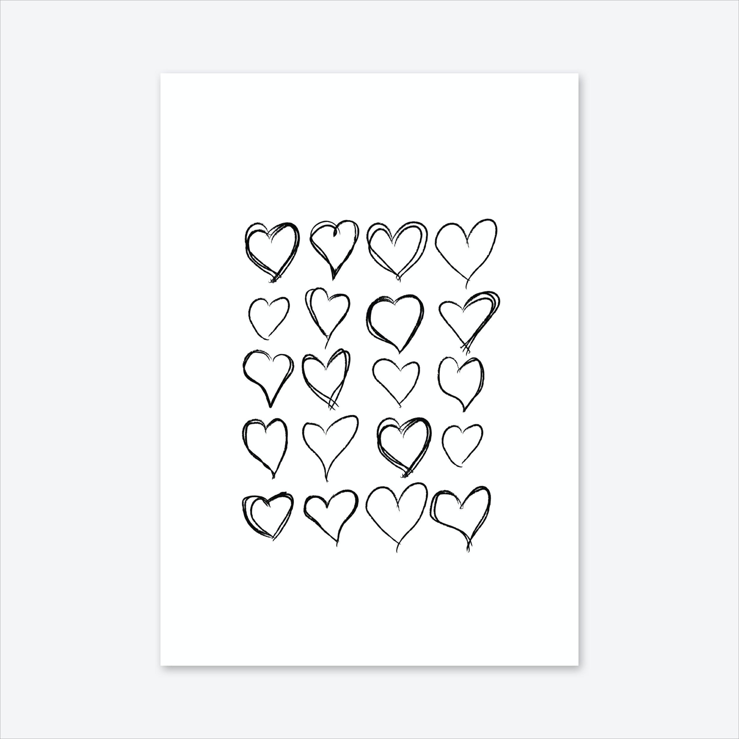 Lovev Hearts Art Print
