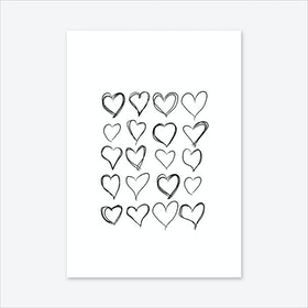 Lovev Hearts Art Print