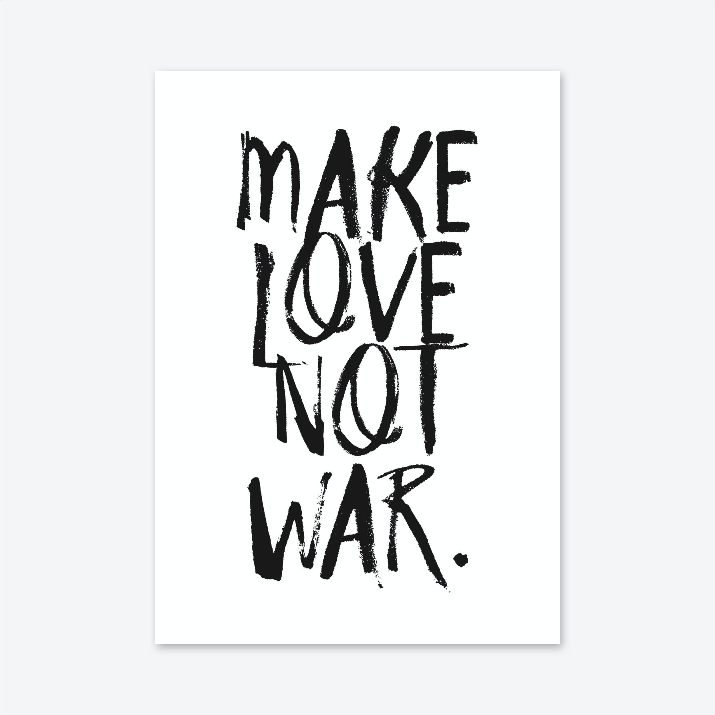 Make Love Art Print