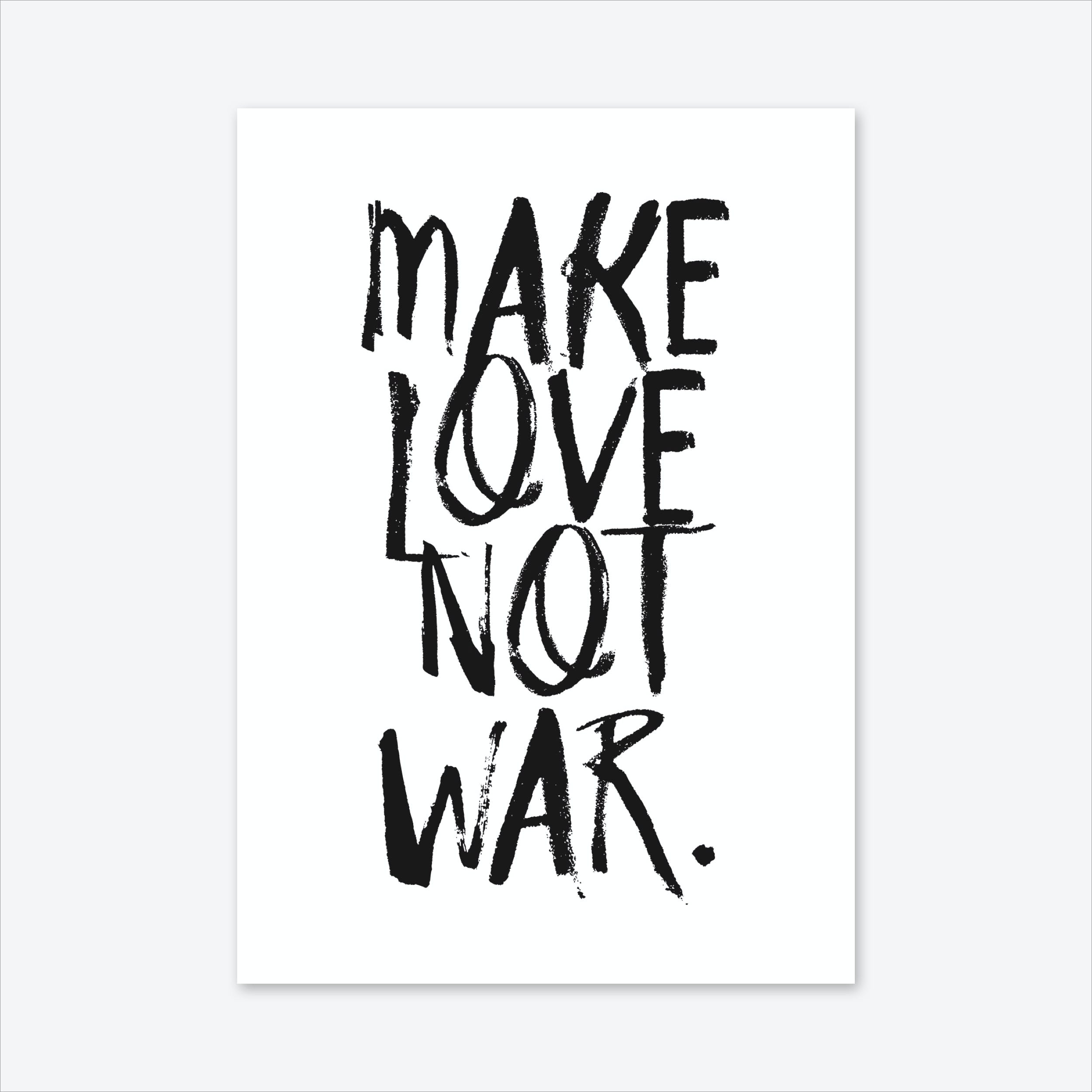 Make Love Art Print