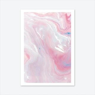 Marble Pink Art Print