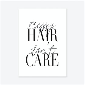 Messy Hair Art Print