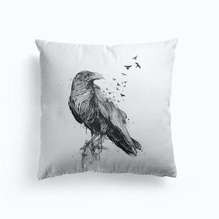Born to be free (bw) Cushion