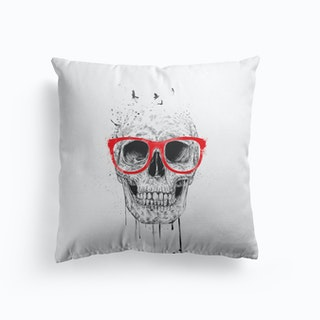 Skull With Red Glasses Cushion