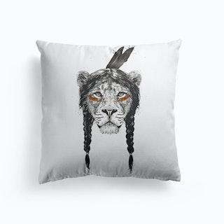 Warrior Lion Cushion