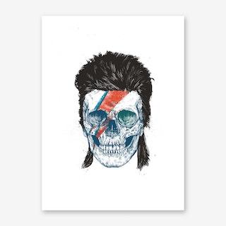 Bowie's Skull Art Print