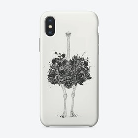 Floral ostrich  iPhone Case